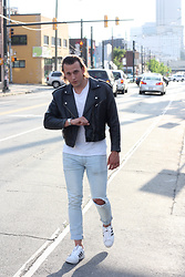 Wes Lambert - H&M T Shirt, Adidas Superstars Shoes, Gap Light Wash Jeans, Thrift Store Biker Jacket, Timex Watch - Greaser