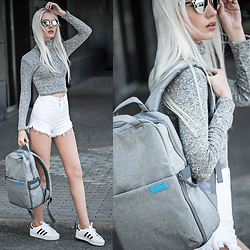 Oksana Orehhova - Zerouv Sunglasses, Adidas Shoes - BACKPACK DAY