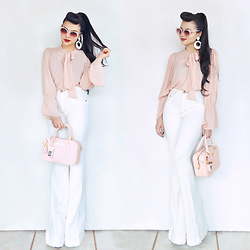 Clara Campelo - Blouse, Pants, Bag, Zerouv Sunnies - Pale Pink