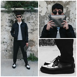 Carlos J - T.U.K. Footwear Shoes, Pull & Bear Trousers, Marc By Jacobs Handbag, Springfield Sweater, Zara Jacket, Polar Sunglasses - MIRACLE ALIGNER.