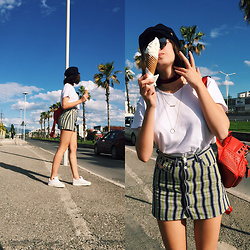 Fransi - Diesel Skirt, Adidas Sneakers, Lindex Hat - This is not LA, baby