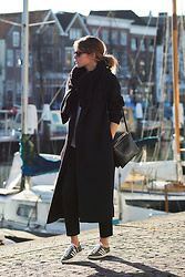 Christine R. - Ganni Sweater, Céline Bag, Cos Coat, Adidas Sneakers - Throwback
