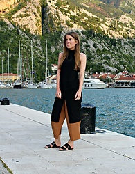 Angharad Jones - Asos Dress, Zara Culottes, By Malene Birger Sandals - Black and Camel Layers