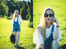 Anna Pogribnyak - Romwe Blouse, Zerouv Sunglasses, Sheinside Overall, Paul Hewitt Bracelet - Let's go to the picnic