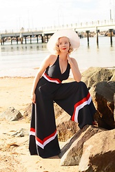 Harlow Darling - Miss Candyfloss Jumpsuit - 1930s Beach Pajamas