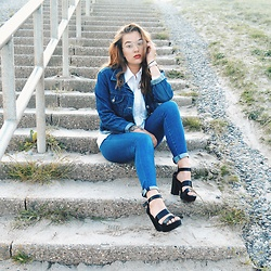 Odette - Monki Heels, River Island Jeans, Thrift Shop Jacket - All denim
