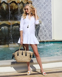Maria Trima - Soludos Shoes, Zara Dress, H&M Bag, Dior Sunglasses, H&M Necklace, H&M Earings - Vacation Look