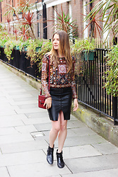 Ola - H&M Leather Skirt, Zara Boots, Zara Chemise - London calling