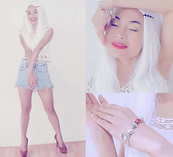 Hanna Painter - Soufeel Charms And Bracelet, Bershka Shorts, Bershka Top, Made In Italy Fashion Shoes - SOUFEEL baby