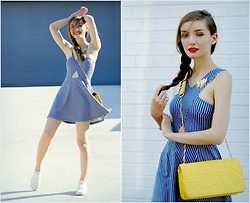 Tatiana - Topshop Dress, Vans Sneakers - Sparkling Lemonade Please