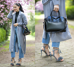 The Day Dreamings - Givenchy Bag Antigona, Ego Shoes Sandals, Zaful Coat, Zara Jeans, H&M Turtleneck - Summer pastels
