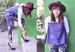 Sonya Ann Kovaleswani - Jeffrey Campbell Shoes Power Cut Heels, Forever 21 Suede Hats, Berrybenka Two Tone Shirt - No Regrets