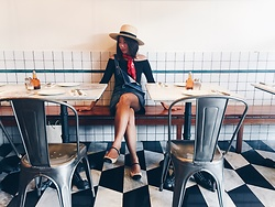 Cassey Cakes - H&M Straw Boater Hat, Mango Denim Dungaree, Zara Off Shoulder Top, Topshop Flats - Pizzeria
