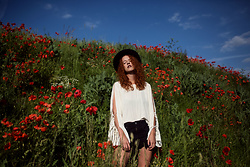 Deliah Alexandra - Weekday Blouse, One Teaspoon Shorts, Asos Hat - I belong among the wild flowers