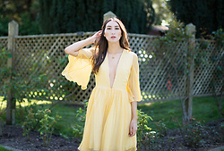 Alyssa Casares - Alyssa Nicole Hadley Dress, Alyssa Nicole Party Necklace - Daffodil Mornings