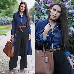 Yana P - Blouse, Trousers, Trench - Midnight Blue