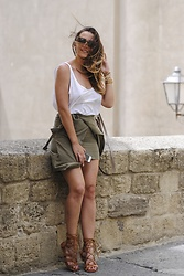 Manuella Lupascu - Michael Kors Bag, Romwe Skirt, Choies Sandals - Last day in Naples and First evening in Rome ♥