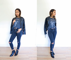 Alexis Brooks - Zara Black Jeans, Boots - HIS INFERNAL MAJESTY