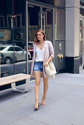 Charlotte Bridgeman - Bcbg Jacket, Mavi Shorts - Lunch With Vogue
