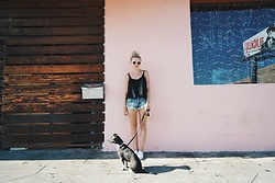 Alexa Jade Warren - Topshop Camisole, One Teaspoon Denim Shorts, Vans Sneakers - Sunrise on Sunset