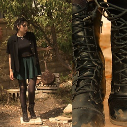Celina G -  - Beat up boots are better