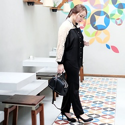 Aubrey Cornelia - U Know Shirt, Korean Brand Bag, Zara Pants, Christian Sirriano Heels - Executive