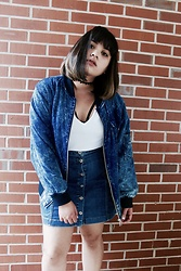 Chelsea Paulett - Asos Denim Bomber Jacket, Missguided Denim Skirt - Denim on Denim