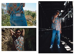Cedric - Polo Ralph Lauren White Cap, Zara Printed Flower Shirt, Valentino Similar Ss16 On Sale, Sandro Jeans, Eden Park Sunglasses, Bershka Retro Shoes - THE FLOWER SHIRT