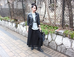 Jelena - Zara Sweater, H&M Maxi Skirt, Burberry Rubber Boots, Zac Posen Bag - Rainy days