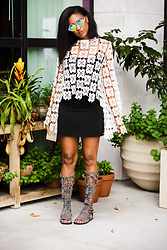 Ria Michelle - Free People Forever And Ever Lace Top, Free People Fp Collection Sun Seeker Tall Sandal - Plantin' Stuff With Free People