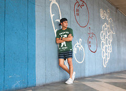Andre Tan - Pull & Bear T Shirt, H&M Swim Shorts, Nike Air Max - Homeround