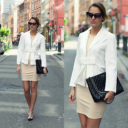 Ruxandra Ioana - Sammydress Blazer, Amiclubwear Dress, Jollychic Bag, Kate Spade Shoes - This is not Summer