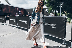 Sofia Grau - Chloé Bag, Uterque Shoes, Mango Jacket - Satin Skirt