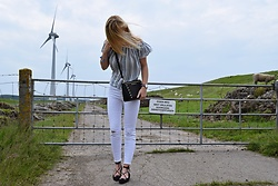 Claaufashion - New Look White Jeans, Mango Laced Up Shoes, Primark Off The Shoulder Top - Off the shoulder