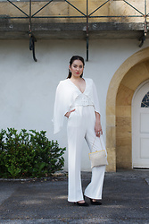 Romina Ch - Elisabetta Franchi Overall, Vintage Bag, Minelli Shoes - All White Overall