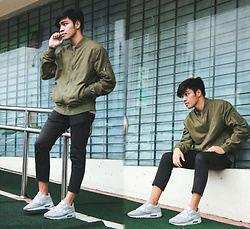 Andre Tan - Bershka Bomber Jacket, Nike Air Max 90 - Cropped