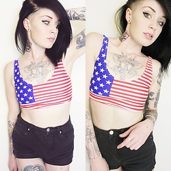 Meggy Whynot - Target American Flag Crop Top - Fourth of july