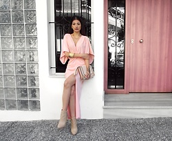 Venetia Kamara - Zaful Dress, Accessorize Clutch Handbag, Stradivarius Heels - PRETTY IN PINK