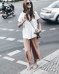 Sofia Grau - Miu Glasses, Chloé Bag, Uterque Pants, Mango Shoes, Cos Top - Pleated Pants