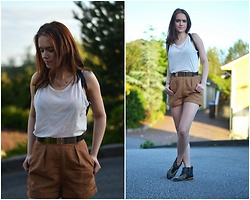 Ida - Zara Shoes - Leather shorts