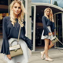 Caro Daur - Coccinelle Bag, Mint And Berry Shoes - Hamburg