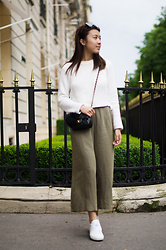 Angela Chen -  - Off-The-Shoulder + Culottes in Paris