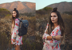 Alexandra Ford Hamilton - Emma And Chloe Backpack, Band Of Gypsies Kimono, Erimish Bracelets - Wild Desert