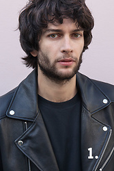 The Idle Man - The Idle Man Black Crew Neck T Shirt, The Idle Man Leather Biker Jacket - Leather Look