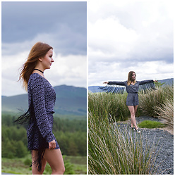Klaudyna - H&M Romper, New Look Choker, Humanic Shoes - Irish Wicklow Mountains