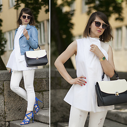 Dorka L. - Lars Larsen Watch, Zara Handbag, Cos Shirt - Clean lines