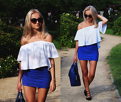Dalena Daily - Top, Skirt - BLUE