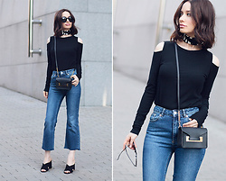 Sonya Karamazova - Sophie Hulme Bag - COLD SHOULDER AND CROPPED FLARES
