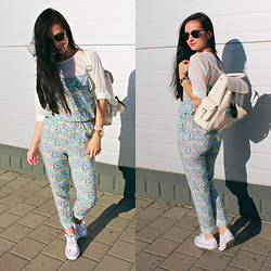 Maria Perchekliy - Mango Overall, Converse Sneakers, Mango Backpack, Ray Ban Sunnies - Lorde – White Teeth Teens