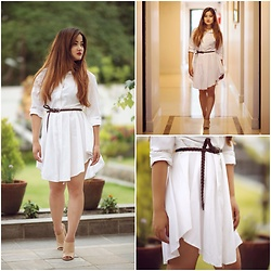 Khusbu Gauchan -  - WHITE SHIRT DRESS